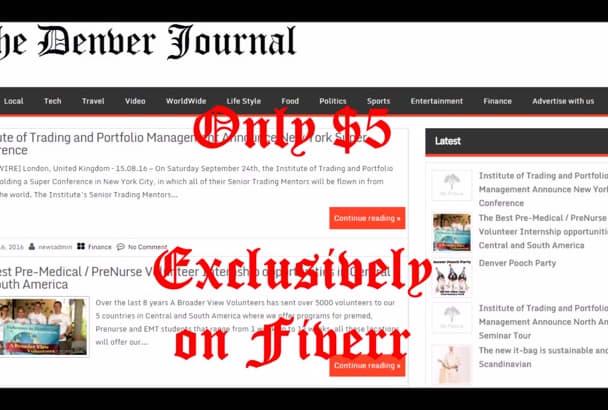 publish article on Denver News blog
