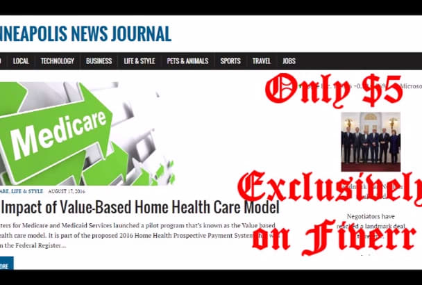 publish article on Minneapolis News blog