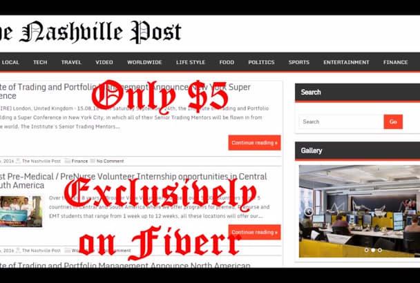 publish article on Nashville News website blog