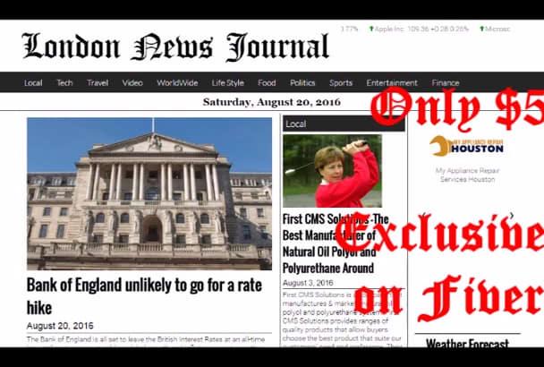 publish article on London News blog