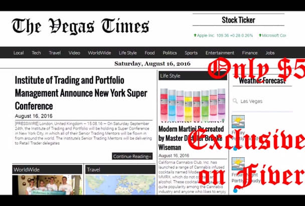 publish article on Vegas Times News
