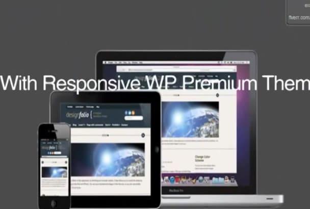 customize WordPress theme, design WordPress website