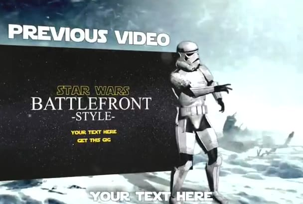 create an amazing star wars intro and outro