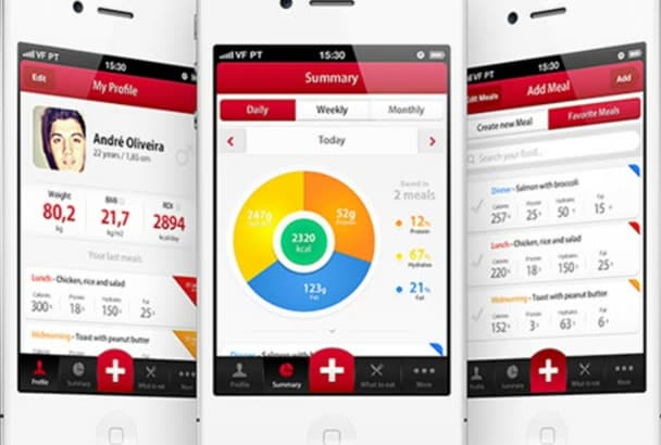 design coolest mockup UI for ios android mobile application