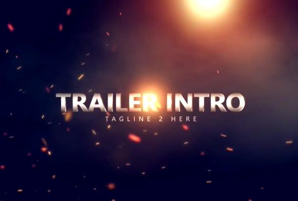 create this amazing cinematic trailer intro