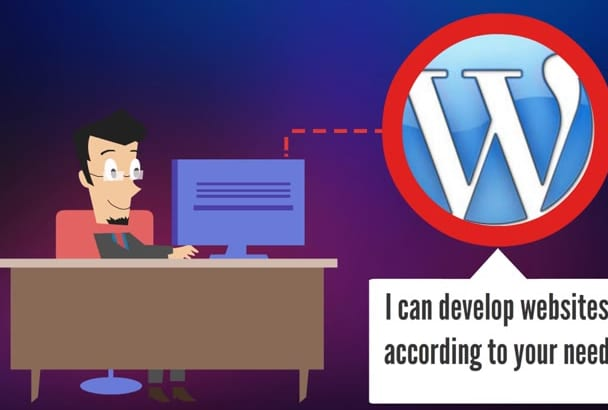 develop professional website from Wordpress