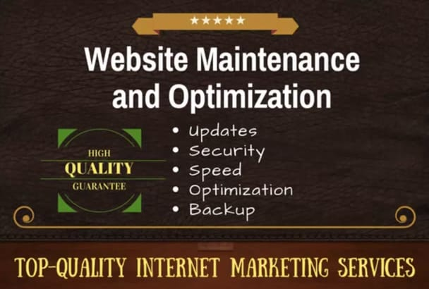 perform important website maintenance and improvement tasks in WordPress