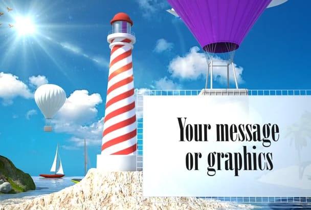 create TRAVEL promo video