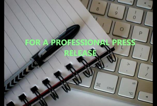 prepare a 400 word press release