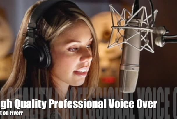 create a professional beautiful female voiceover