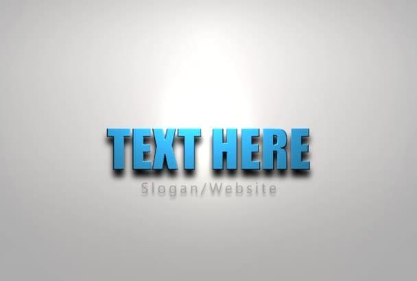 make an elegant Logo Introduction video