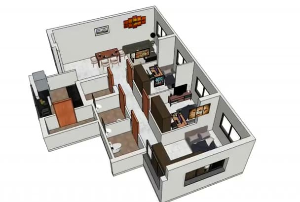 design and modeling 3D models for you by sketchup and 3d max