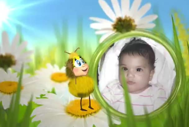create Funny Bee for your kids