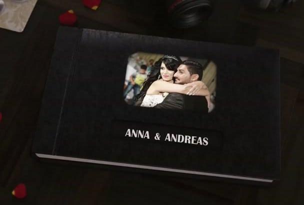 create wedding or anniversary photo album slideshow