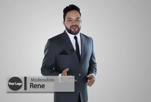 be your spokesperson green screen video in Spanish HD