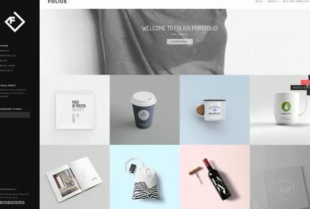 vendre Folius  Portfolio Template professional portfolio