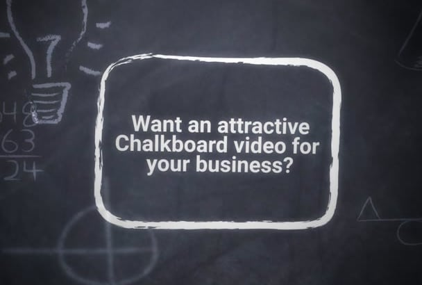 make this amazing chalkboard animation video in just one day