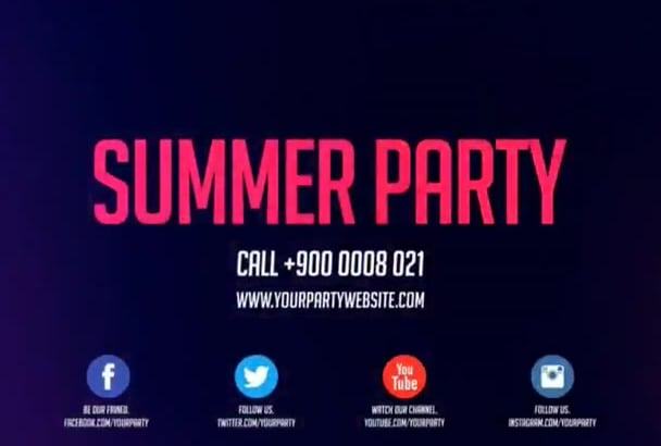 create club promo or DJ party video
