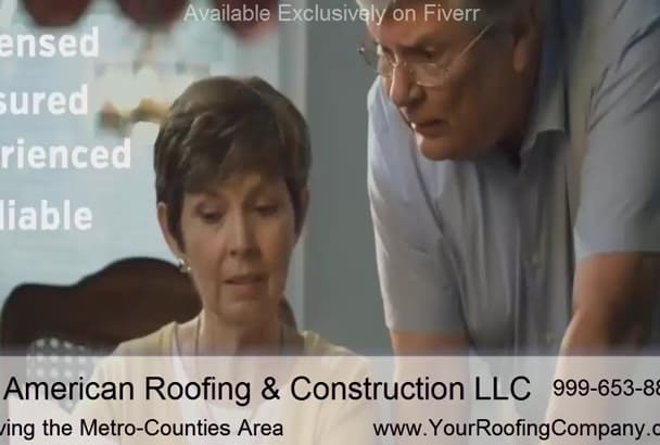 customize an AWESOME Video for Roofing Contractors