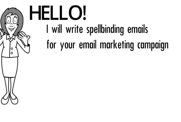 write an ACTION driven email for your marketing campaign