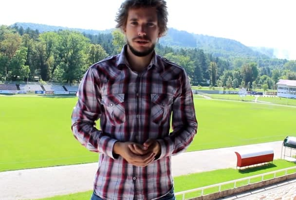 make video Testimonial on Football Soccer field
