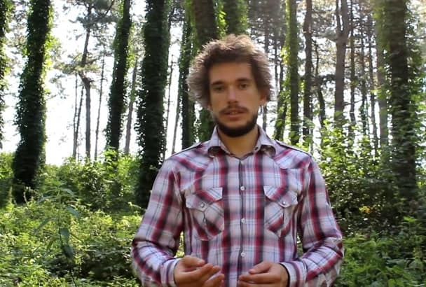 make video Testimonial in the Forest