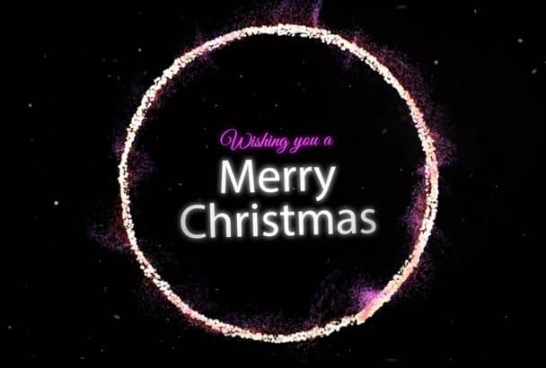 design merry Christmas video