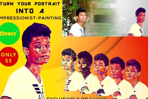 turn your portrait to a impressionist painting
