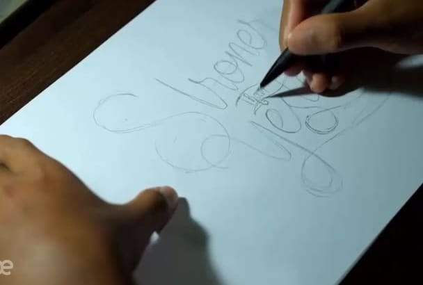 make a video of hand lettering