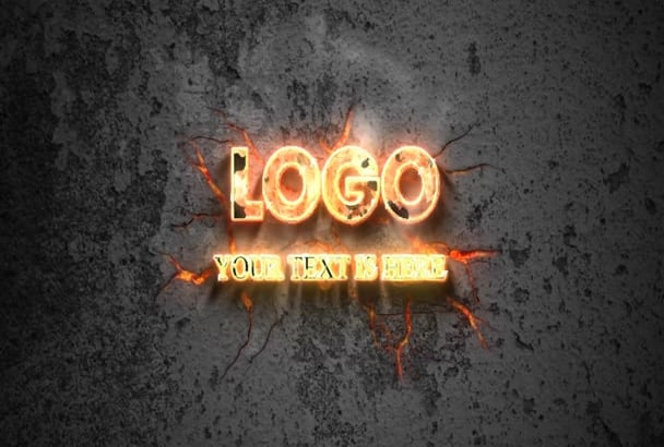 create amazing fire intro animation logo