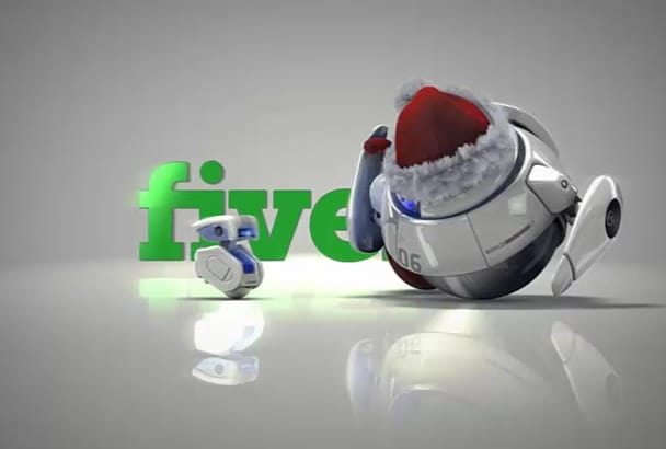 do a Robots 3d Christmas intro