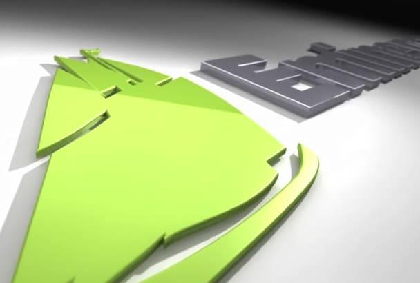 produce 3D logo animations