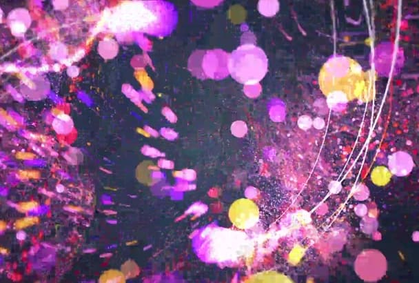make Colorful Elegant Particles Logo Intro