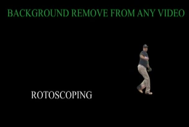 remove background or rotoscoping from any video