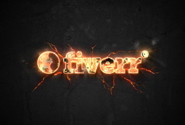 make Professional Metal Fire Logo Animation Video Intro in Full HD