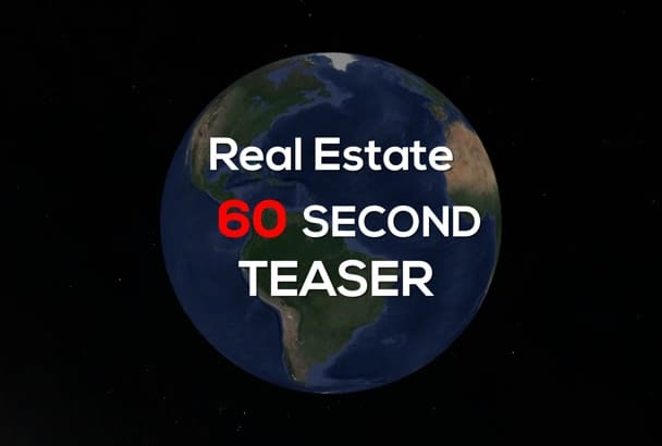 create a 60 second Real Estate teaser with Google Earth