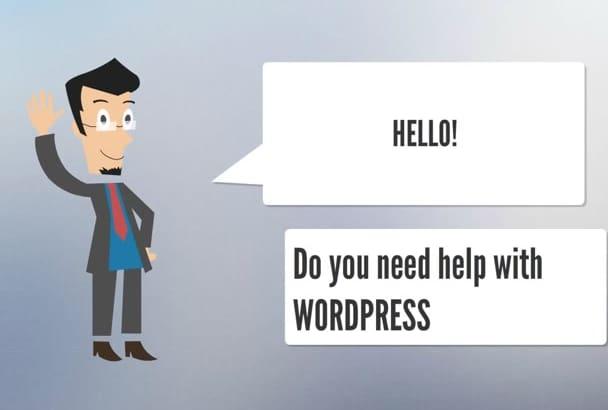 do Install WordPress and customize WordPress theme