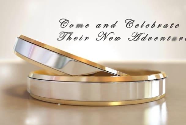 make wedding invitation video