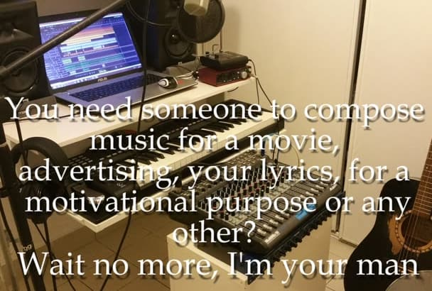 compose and record a custom song for you