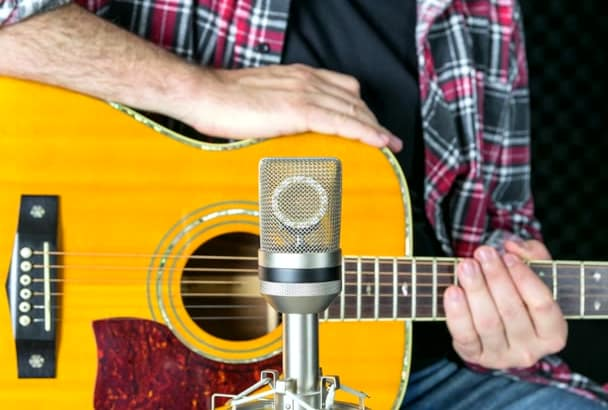 record Professional Acoustic Guitar on your song
