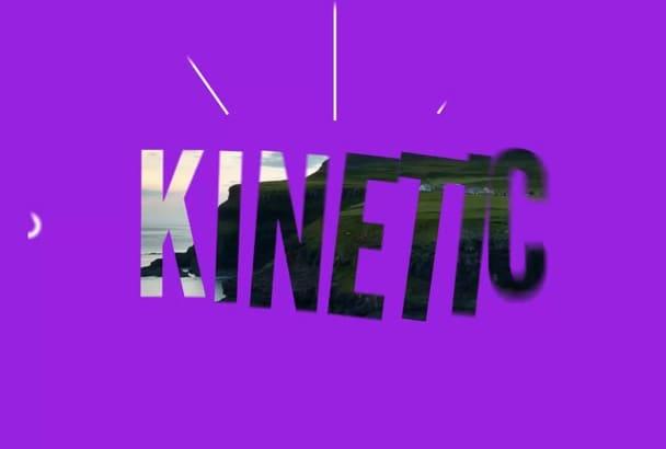 make this stylish kinetic opener or slideshow
