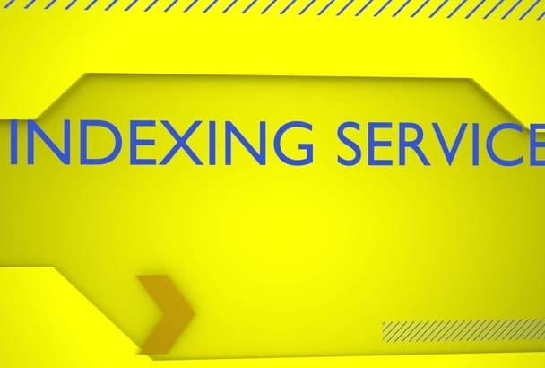 index 2000 URLs for SEO Backlink Indexing