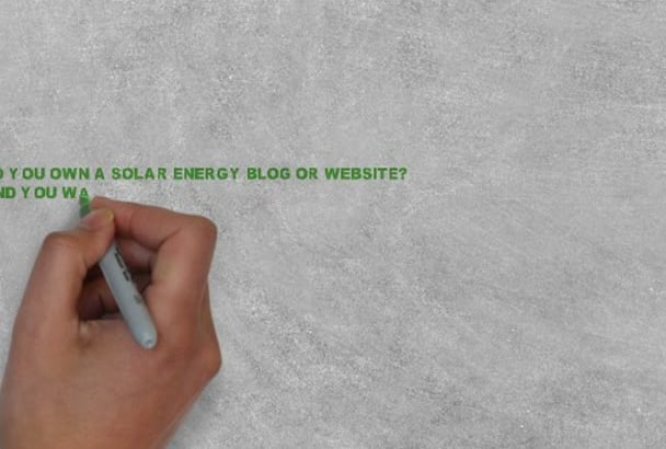 write unique solar energy articles