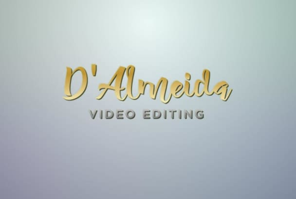do Professional  Video Editing and Logo animation