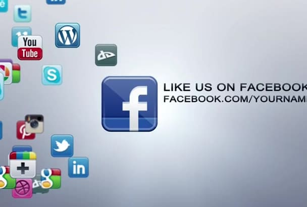 customize this animated social media promotion video for your company