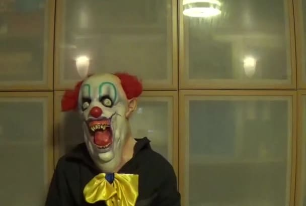 say anything you want with a scary clown mask
