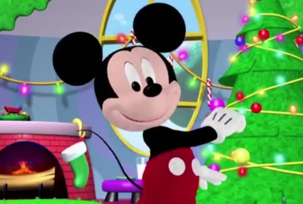 record a Christmas greeting as Mickey Mouse