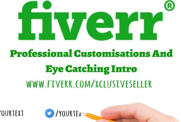 create eye catching WHITEBOARD logo intro Animation