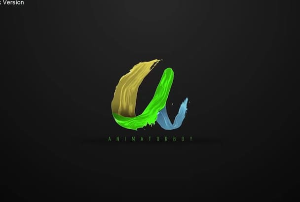 do very AWESOME liquid logo animation within 10hrs