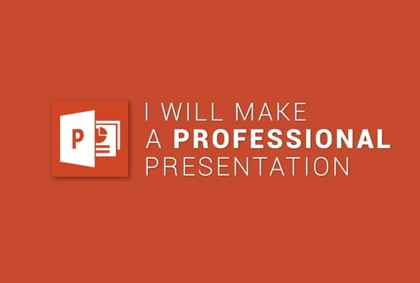 do a professional powerpoint presentation with custom design